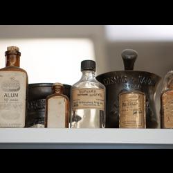 clear bottles medicine